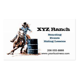 Barrel Racing Business Card Templates
