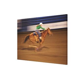 Barrel racing canvas print