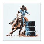 Barrel Racing Canvas Prints