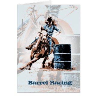 Barrel Racing Note Card