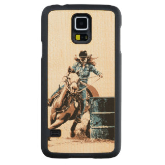 Barrel Racing Carved Maple Galaxy S5 Slim Case