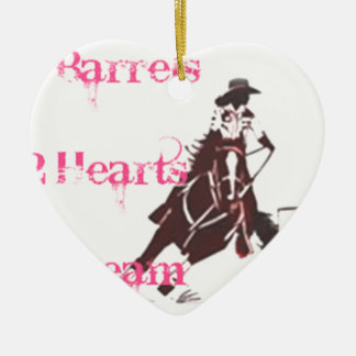 Barrel Racing Ceramic Ornament