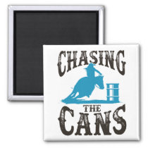 Barrel Racing Chasing the Cans Magnet