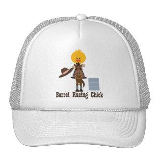 Barrel Racing Chick Hat