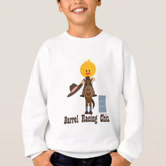Barrel Racing Chick Kids Sweatshirt