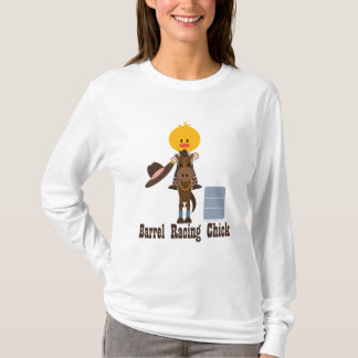 Barrel Racing Chick Long Sleeve Shirt