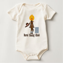 Barrel Racing Chick Organic Baby Bodysuit