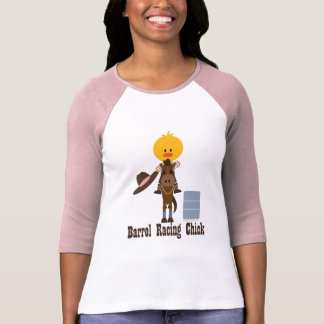 Barrel Racing Chick Raglan Shirt