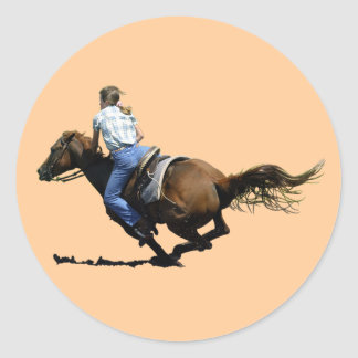Barrel Racing - Coming In Hard Classic Round Sticker