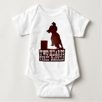 barrel racing cowgirl redneck horse baby bodysuit