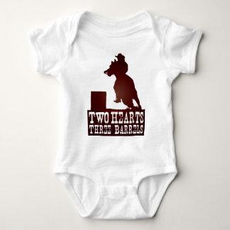 barrel racing cowgirl redneck horse baby bodysuit