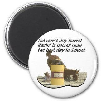 Barrel Racing - Crash V School 2 Inch Round Magnet