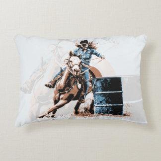 Barrel Racing Decorative Pillow