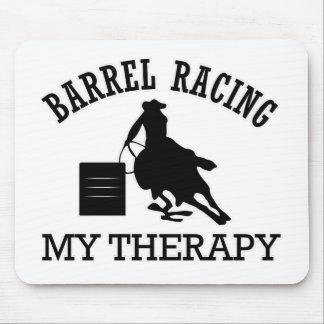 barrel racing design mousepad