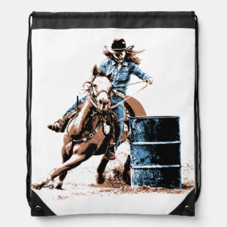 Barrel Racing Drawstring Backpacks