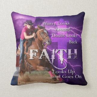 Barrel Racing Faith Pillow