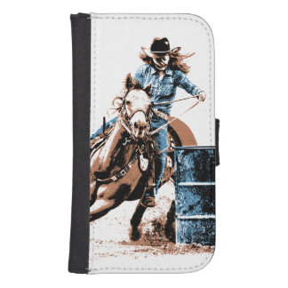 Barrel Racing Galaxy S4 Wallet Case