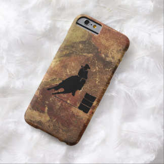 Barrel Racing Girl Silhouette on a Grunge Texture Barely There iPhone 6 Case