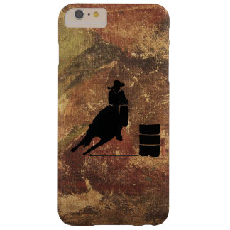 Barrel Racing Girl Silhouette on a Grunge Texture Barely There iPhone 6 Plus Case