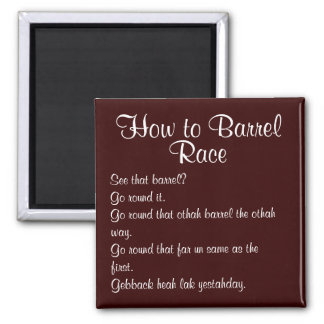 Barrel Racing - Girls - Directions 2 Inch Square Magnet