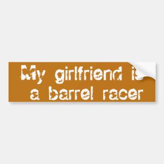 Barrel Racing - Girls - My GF is a barrel racer Bumper Sticker