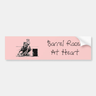 Barrel Racing Horse Bumper Sticker
