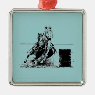 Barrel Racing Horse Metal Ornament