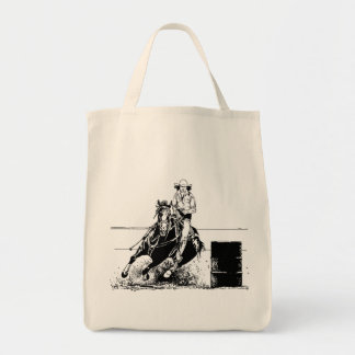 Barrel Racing Horse Tote Bag