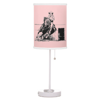 Barrel Racing Horse with Cowgirl Desk Lamp