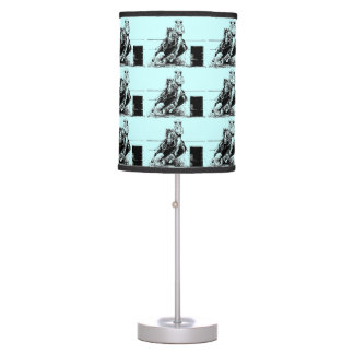 Barrel Racing Horse with Cowgirl Table Lamp