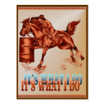 Barrel Racing_It's what I do Post Card