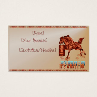 Barrel Racing_It's what I do  profilecard_busin... Business Card
