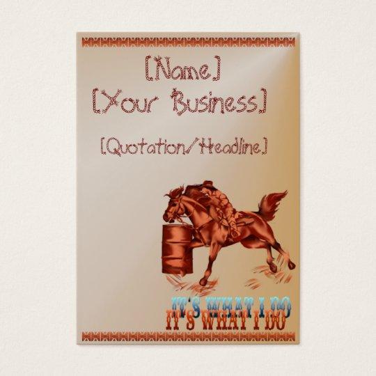 Barrel Racing_It's what I do  profilecard_chubb... Business Card