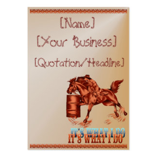 Barrel Racing_It's what I do  profilecard_chubb... Large Business Cards (Pack Of 100)