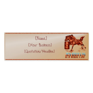 Barrel Racing_It's what I do  profilecard_skinn... Double-Sided Mini Business Cards (Pack Of 20)