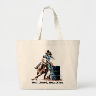 Barrel Racing Jumbo Tote Bag