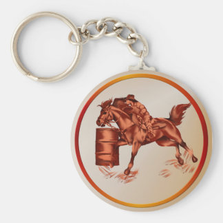 Barrel Racing -Keychain Keychain