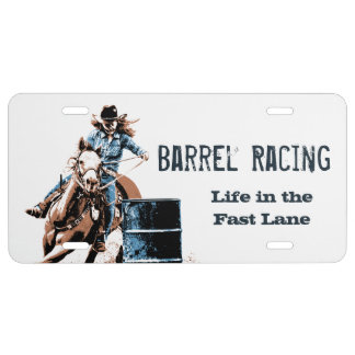 Barrel Racing License Plate