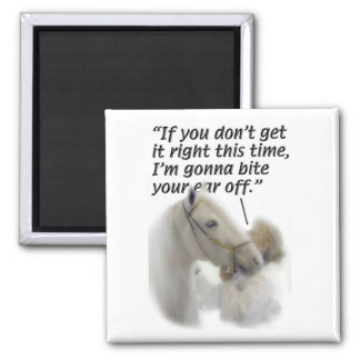 Barrel Racing, Misc. 2 Inch Square Magnet