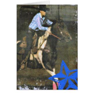 Barrel Racing Paint Horse Card