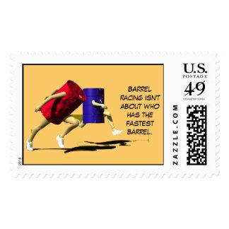 Barrel Racing - Racing Barrels Postage Stamps
