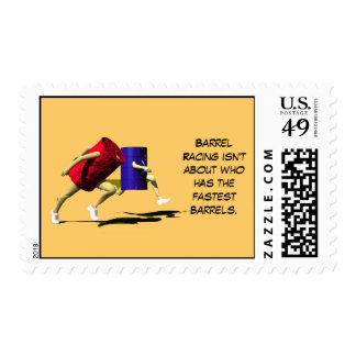 Barrel Racing, Racing Barrels Stamp