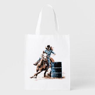 Barrel Racing Reusable Grocery Bag