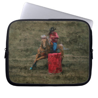 Barrel-Racing Rodeo Cowgirl Designer Art #Gift Laptop Sleeve