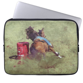 Barrel-Racing Rodeo Cowgirl Designer Art #Gift Laptop Sleeves