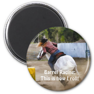 Barrel-Racing Rodeo Cowgirl Designer #Gift 2 Inch Round Magnet