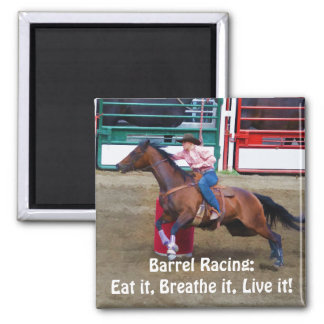 Barrel-Racing Rodeo Cowgirl Designer #Gift 2 Inch Square Magnet