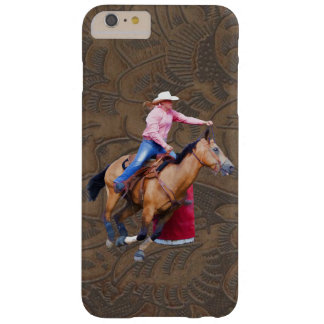 Barrel-Racing Rodeo Cowgirl Designer #Gift Barely There iPhone 6 Plus Case