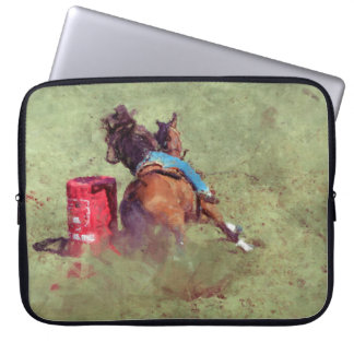 Barrel-Racing Rodeo Cowgirl Designer #Gift Laptop Computer Sleeve