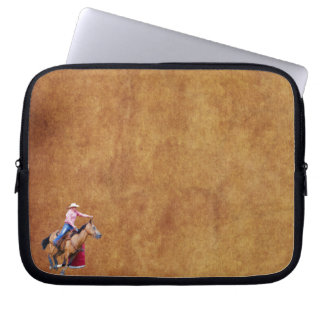 Barrel-Racing Rodeo Cowgirl Designer #Gift Computer Sleeve